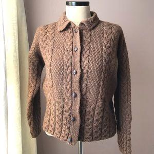 Peregrine Wool Cable Cardigan L England Aran